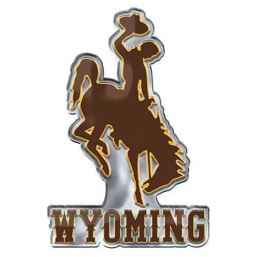 Wyoming Cowboys Auto Emblem Color Alternate Logo Special Order