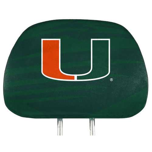 Miami Hurricanes Headrest Covers Full Printed Style Special Order