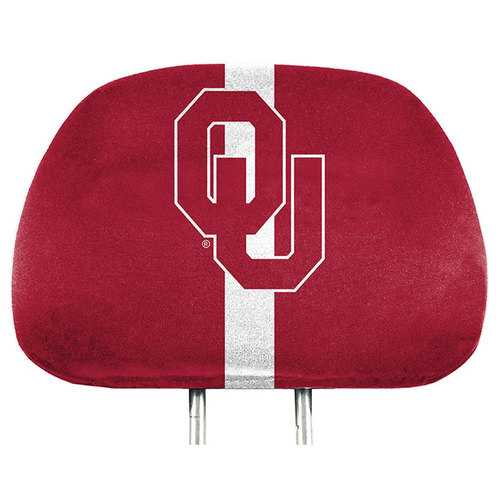 Oklahoma Sooners Headrest Covers Full Printed Style Special Order
