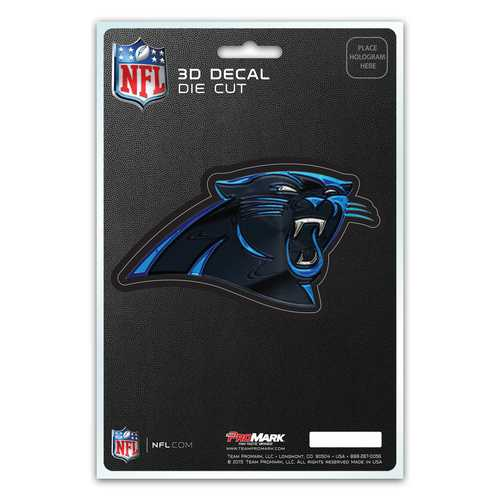 Carolina Panthers Decal 5x8 Die Cut 3D Logo Design