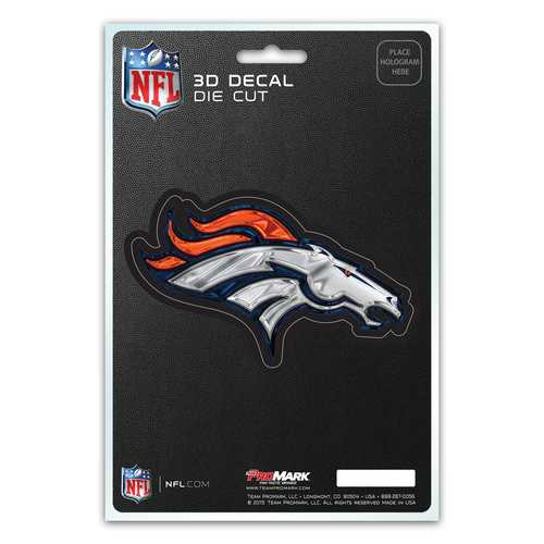 Denver Broncos Decal 5x8 Die Cut 3D Logo Design