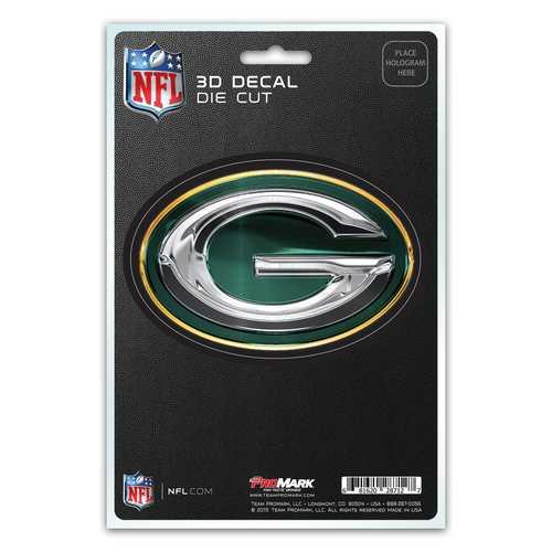 Green Bay Packers Decal 5x8 Die Cut 3D Logo Design