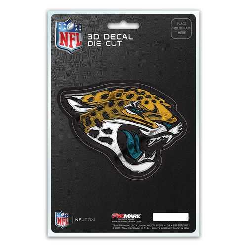 Jacksonville Jaguars Decal 5x8 Die Cut 3D Logo Design
