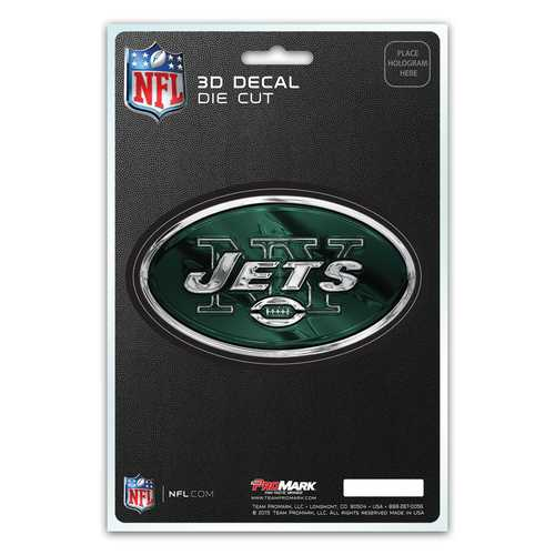 New York Jets Decal 5x8 Die Cut 3D Logo Design
