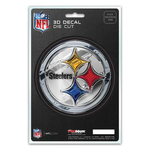 Pittsburgh Steelers Decal 5x8 Die Cut 3D Logo Design