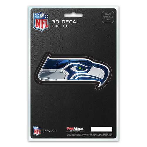 Seattle Seahawks Decal 5x8 Die Cut 3D Logo Design