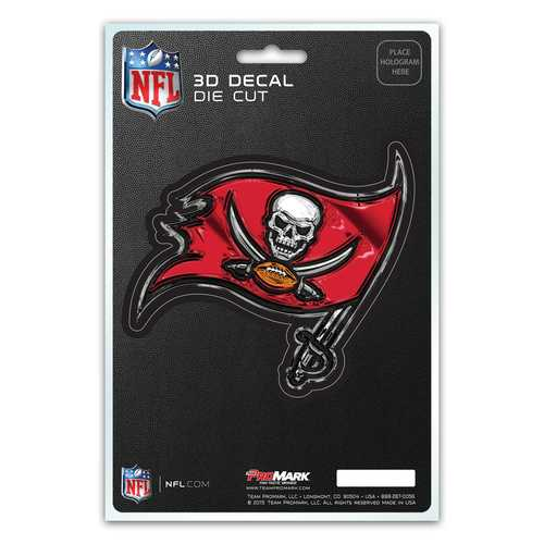 Tampa Bay Buccaneers Decal 5x8 Die Cut 3D Logo Design