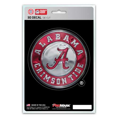 Alabama Crimson Tide Decal 5x8 Die Cut 3D Logo Design