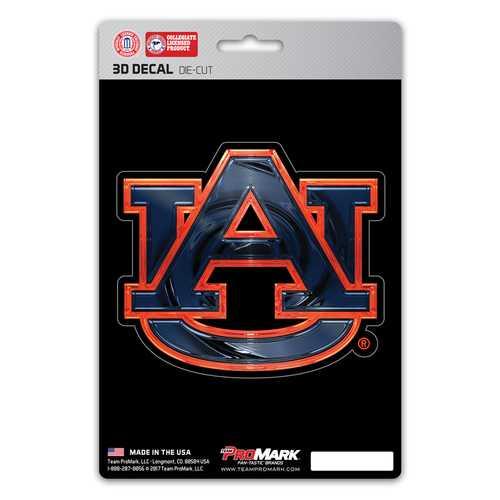 Auburn Tigers Decal 5x8 Die Cut 3D Logo Design