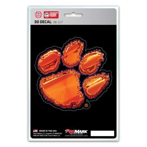 Clemson Tigers Decal 5x8 Die Cut 3D Logo Design