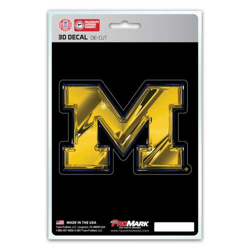 Michigan Wolverines Decal 5x8 Die Cut 3D Logo Design