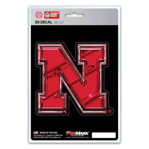 Nebraska Cornhuskers Decal 5x8 Die Cut 3D Logo Design