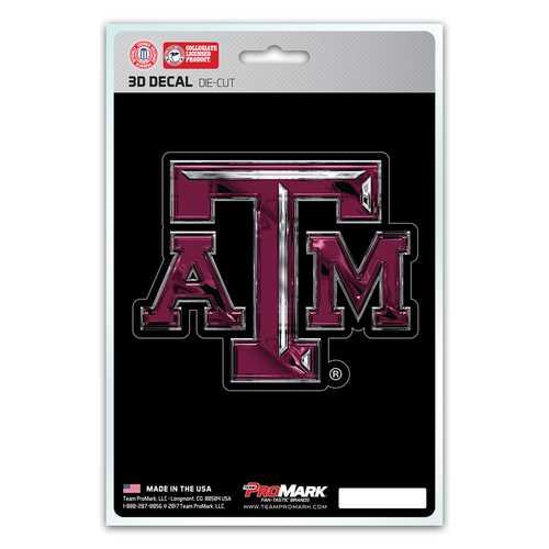 Texas A&M Aggies Decal 5x8 Die Cut 3D Logo Design