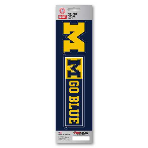 Michigan Wolverines Decal Die Cut Slogan Pack