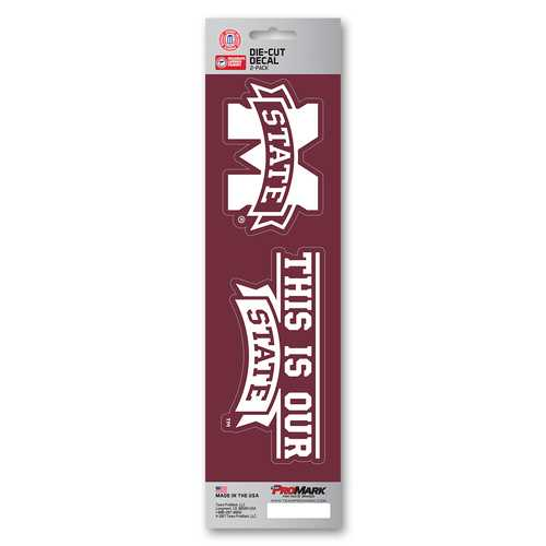 Mississippi State Bulldogs Decal Die Cut Slogan Pack