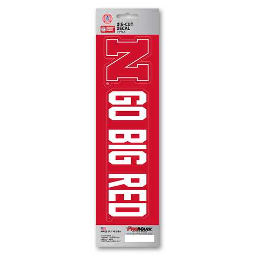 Nebraska Cornhuskers Decal Die Cut Slogan Pack