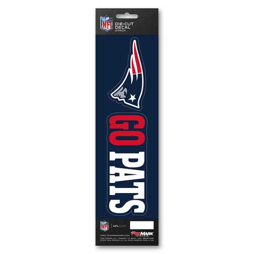 New England Patriots Decal Die Cut Slogan Pack