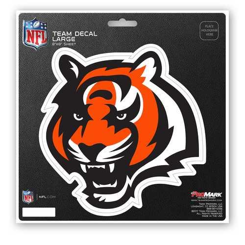 Cincinnati Bengals Decal 8x8 Die Cut Special Order