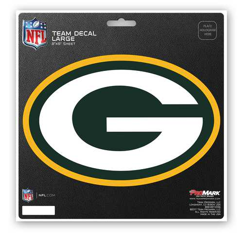 Green Bay Packers Decal 8x8 Die Cut