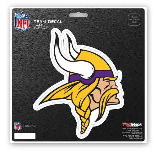 Minnesota Vikings Decal 8x8 Die Cut