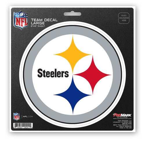 Pittsburgh Steelers Decal 8x8 Die Cut