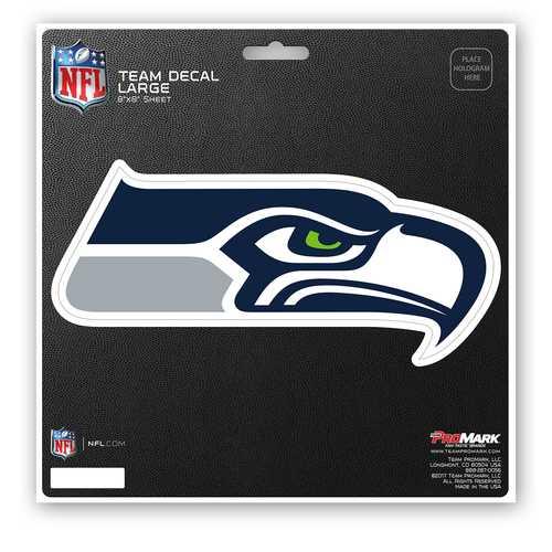 Seattle Seahawks Decal 8x8 Die Cut