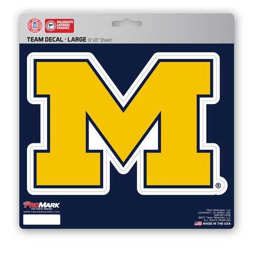 Michigan Wolverines Decal 8x8 Die Cut Special Order