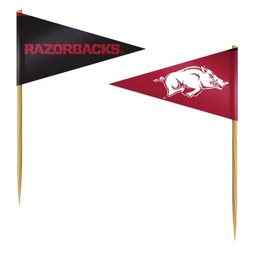 Arkansas Razorbacks Toothpicks 36 Piece Pennant Style FanPicks