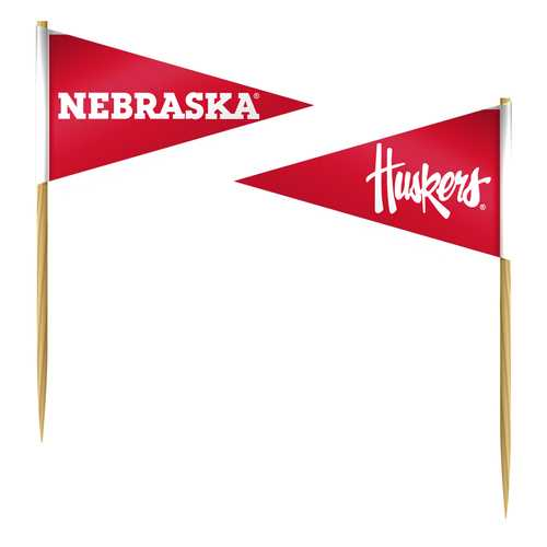 Nebraska Cornhuskers Toothpicks 36 Piece Pennant Style FanPicks