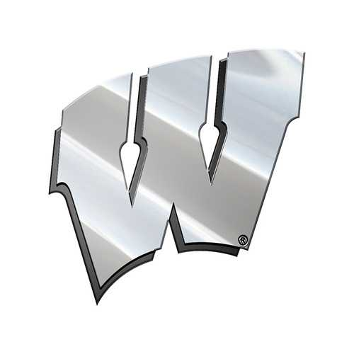 Wisconsin Badgers Auto Emblem Premium Metal Special Order