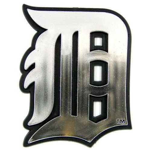 Detroit Tigers Auto Emblem - Silver