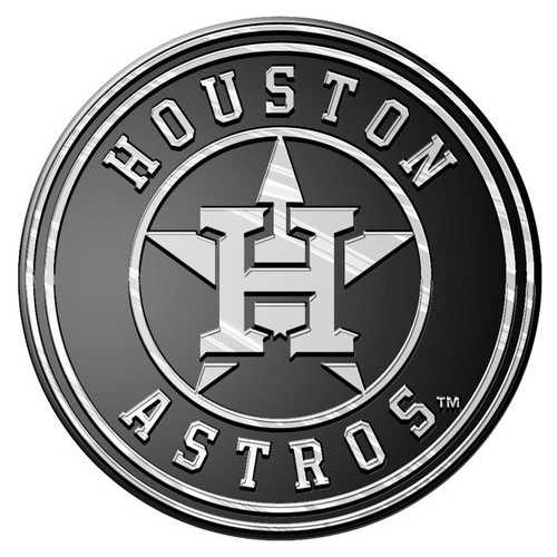 Houston Astros Auto Emblem - Silver