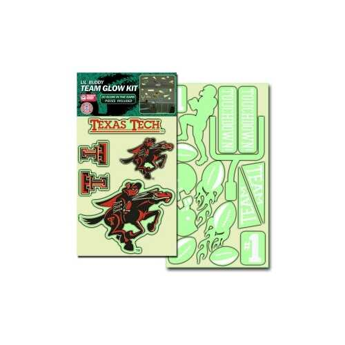 Texas Tech Red Raiders Decal Lil Buddy Glow in the Dark Kit Special Order