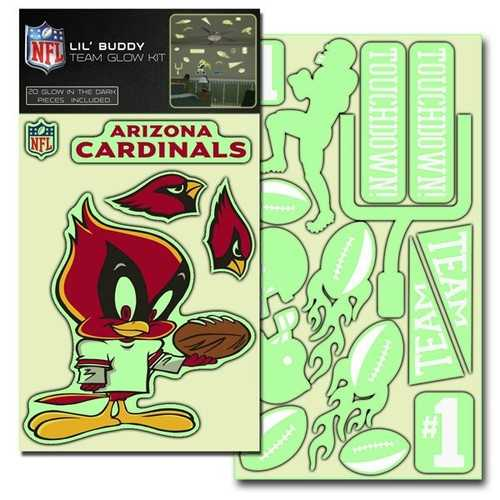 Arizona Cardinals Decal Lil Buddy Glow in the Dark Kit