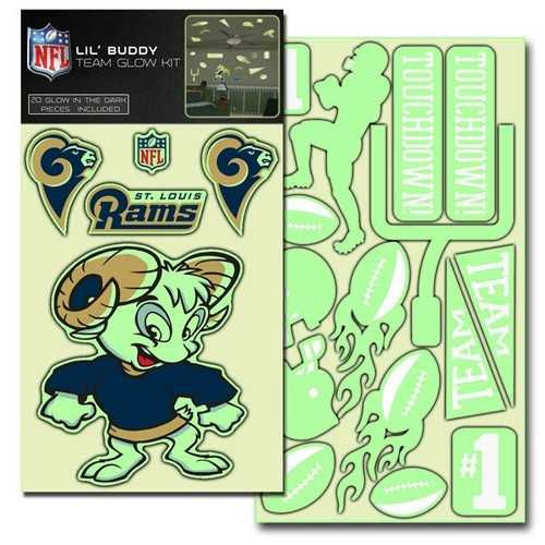St. Louis Rams Decal Lil Buddy Glow in the Dark Kit
