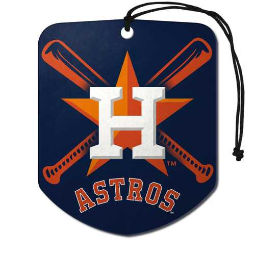 Houston Astros Air Freshener Shield Design 2 Pack