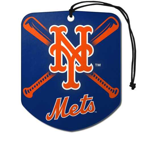 New York Mets Air Freshener Shield Design 2 Pack