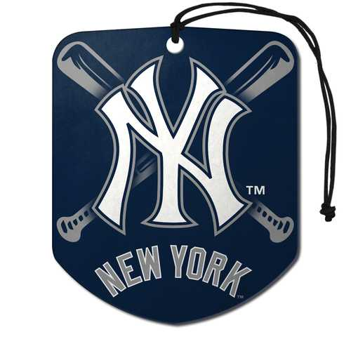 New York Yankees Air Freshener Shield Design 2 Pack