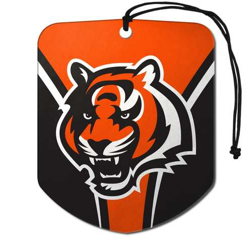Cincinnati Bengals Air Freshener Shield Design 2 Pack