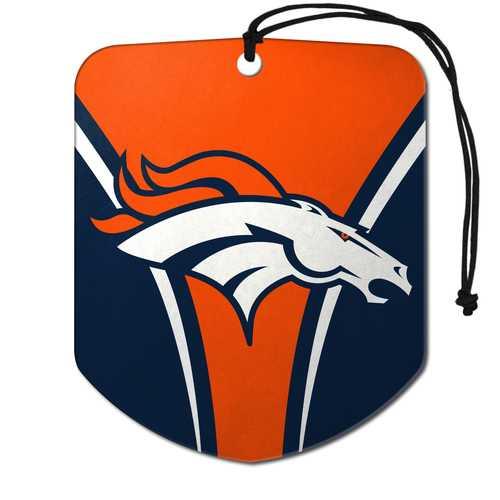 Denver Broncos Air Freshener Shield Design 2 Pack