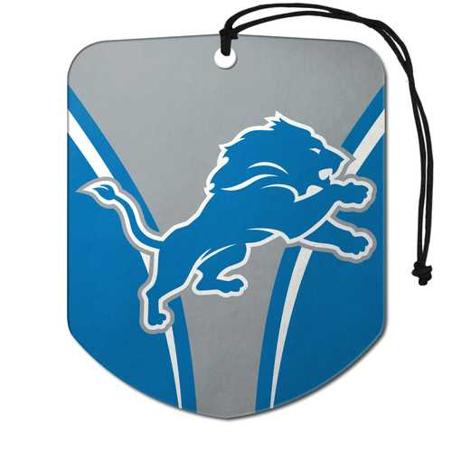 Detroit Lions Air Freshener Shield Design 2 Pack