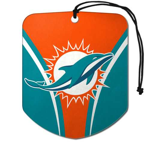 Miami Dolphins Air Freshener Shield Design 2 Pack
