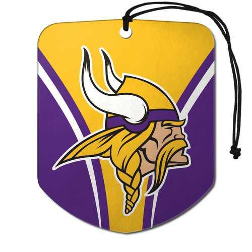 Minnesota Vikings Air Freshener Shield Design 2 Pack