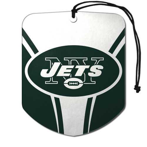 New York Jets Air Freshener Shield Design 2 Pack