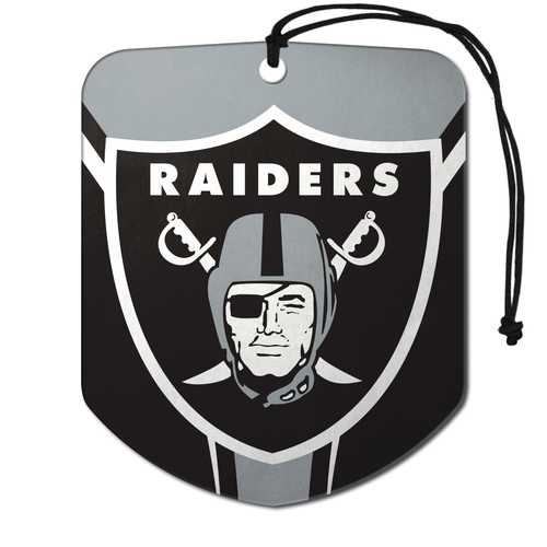 Oakland Raiders Air Freshener Shield Design 2 Pack