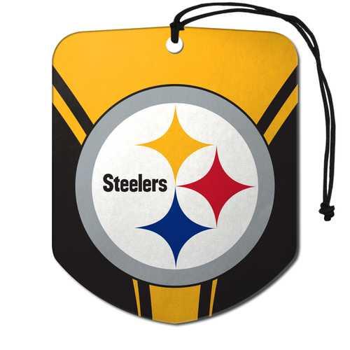 Pittsburgh Steelers Air Freshener Shield Design 2 Pack