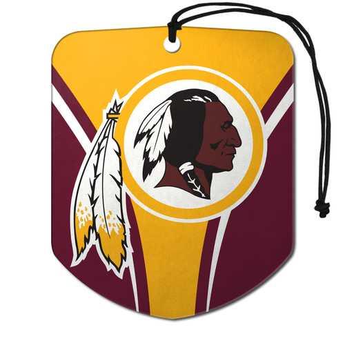 Washington Redskins Air Freshener Shield Design 2 Pack