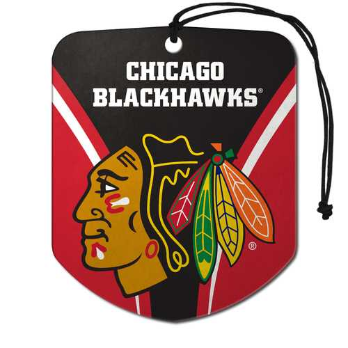 Chicago Blackhawks Air Freshener Shield Design 2 Pack