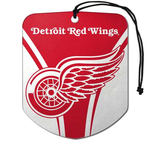 Detroit Red Wings Air Freshener Shield Design 2 Pack