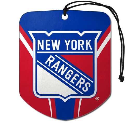 New York Rangers Air Freshener Shield Design 2 Pack
